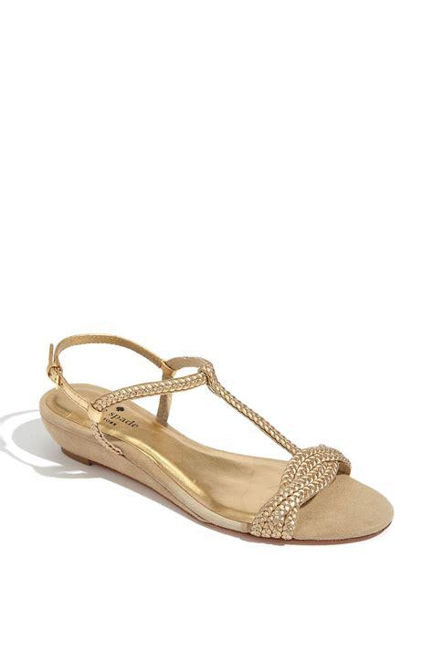 Sandal Wedges Kate Spade kate spade verona wedge sandal in beige camel suede