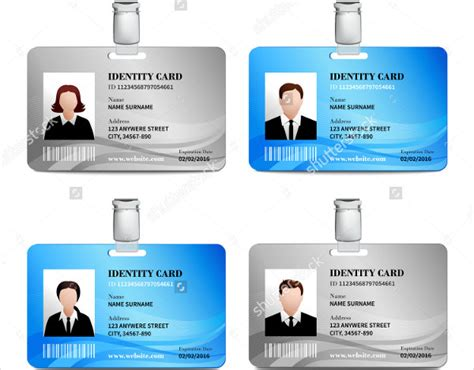 identification card template 17 id card templates free sle exle format