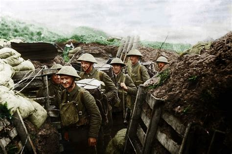 the color war amazing world war one images transformed into color