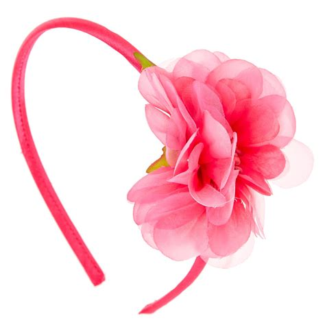 Where Can I Buy A Pink Gift Card - hot pink flower headband claire s us