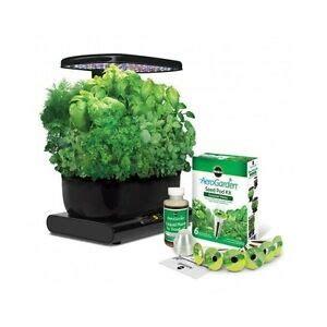 indoor herb garden kit led grow light system seed pod