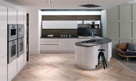 Kitchen Design Awards by Tomba Contemporary Handleless Gloss White Door