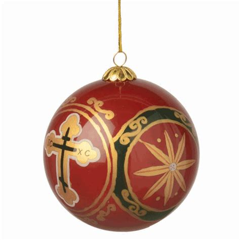 ornament handpainted orthodox cross design ancient