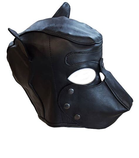 leather puppy mask mask leather mask leather