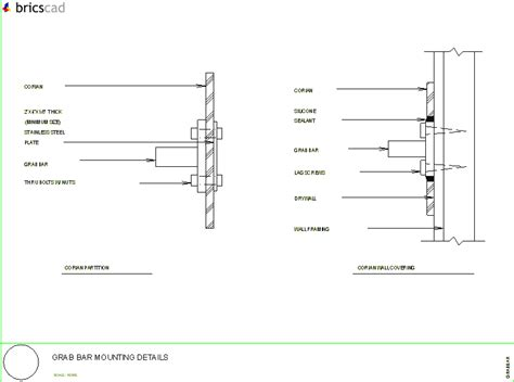 Corian Price Typical Grab Bar Mounting Details Aia Cad Details Zipped