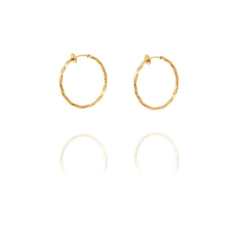 Ersp Comforts Of Home Care by Creole Twisted Hoop Clip On Earrings 3cm Gold