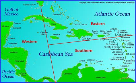 map of the caribbean islands southern caribbean cruise map