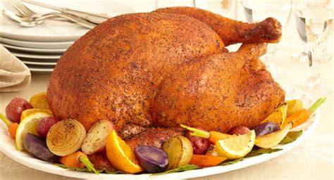 savory herb rub roasted turkey recipe