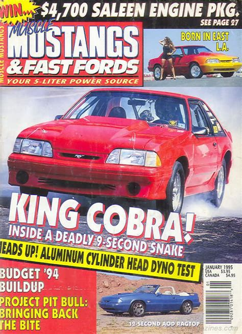 mustangs and fast fords back issues backissues mustangs fast fords january 1995