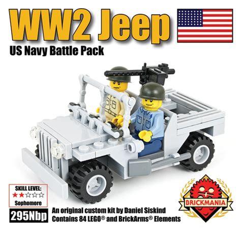 brickmania jeep bricker construction toy by brickmania 295n ww2 jeep us