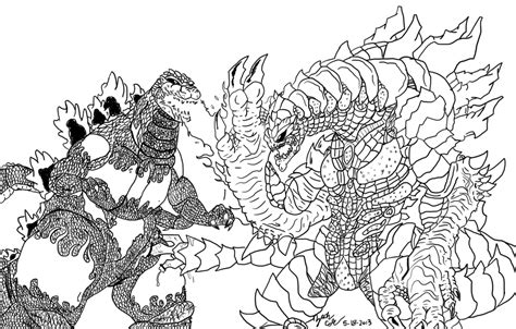 burning godzilla coloring pages burning godzilla vs nemesis ink by jcity96 on deviantart