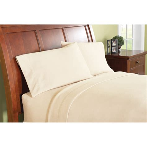 walmart bed sheet set mainstays fleece machine washable bedding sheet set