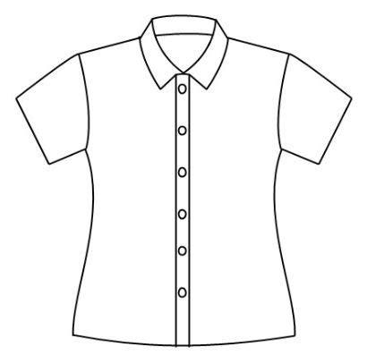 gambar baju kemeja kartun hitam putih