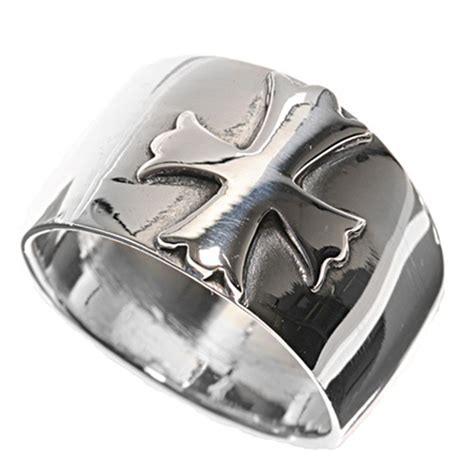 sterling silver s s cross polished ring 925