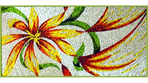 mosaico fiori mosaico fiore ocrarossa