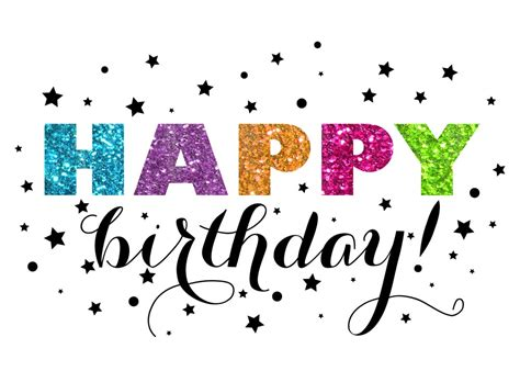Glitter Birthday Cards Glitter Starry Birthday Birthday Cards From Cardsdirect