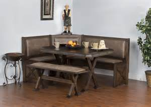 breakfast nook table only sd 0222ac rustic breakfast nook with cushioned