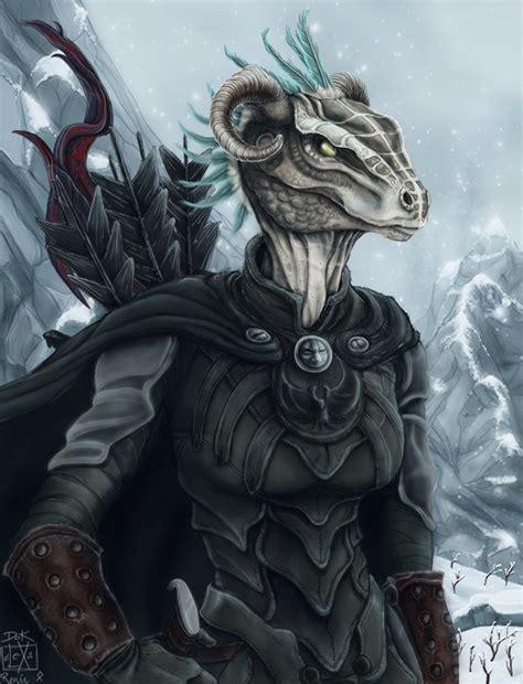 skyrim argonian fan art its only dragon porn when she looks like a dragon