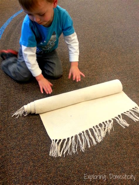 Montessori Mats by Less Mess Playtime With A Montessori Work Mat Exploring