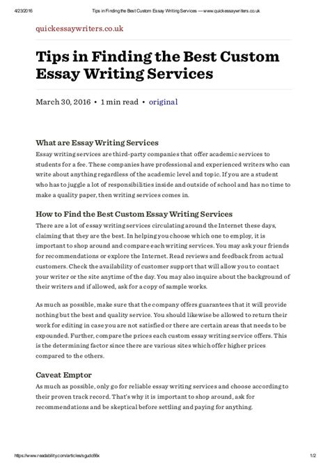 Best Custom Essay Writing by Best Custom Writting