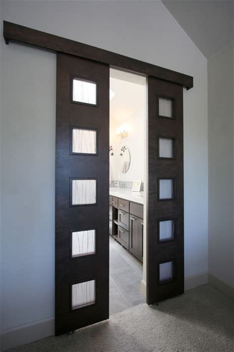 Master Bathroom Barn Door Custom Barn Door Entry Into Master Bathroom