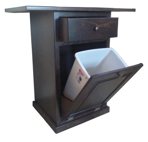 kitchen island trash bin pine kitchen island with tilt out trash bin from