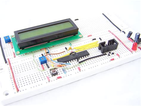 circuit to breadboard converter analogue to digital conversion on an atmega168 protostack