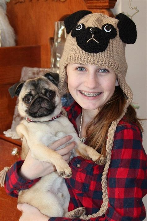 pugs with hats pug hat with earflaps 40 00 via etsy puggy stuff