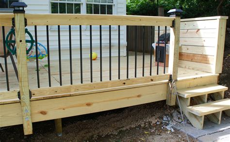 Home Depot Front Porch Railing by Deck Construction Is Complete Front Shack