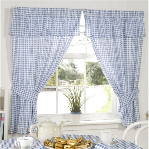 volant vorhang molly gingham chequer pattern ready made curtains with