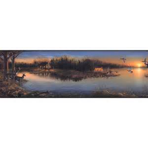 home depot forest york wallcoverings lake forest lodge tranquil evening
