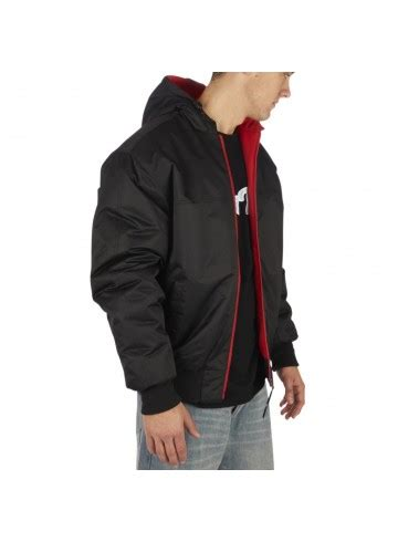 Jaket Parka Two Tone Polos Blackred townz winter jacket 2 tone black rudecru