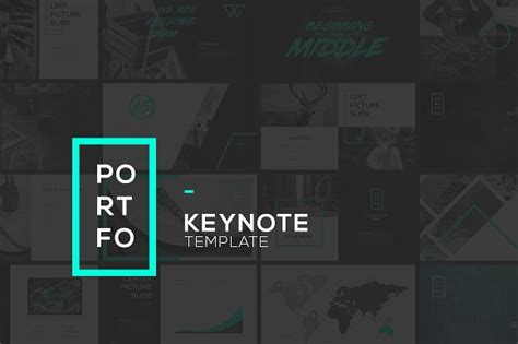 portfo keynote template presentation templates