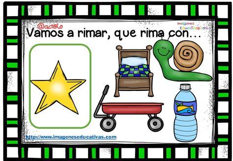 imagenes palabras que rimen rimas infantiles que rima con 4 imagenes educativas