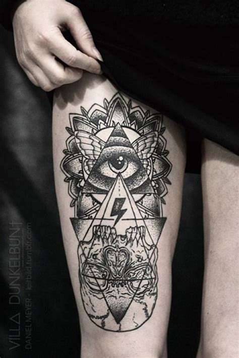 tattoo eye leg 101 thigh tattoo ideas and designs for women