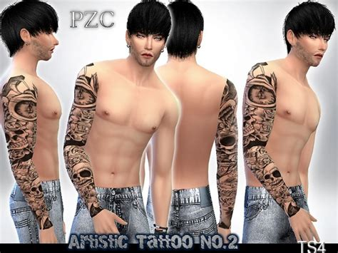 yakuza tattoo sims 4 artistic sleeve tattoo no 2 by pinkzombiecupcakes at tsr