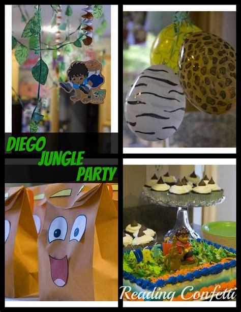 lil party animals paper bag safari vest tutorial diego jungle birthday party reading confetti