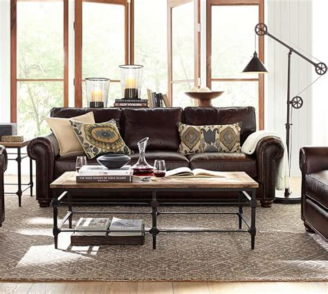 webster sofa collection legacy tobacco pottery barn