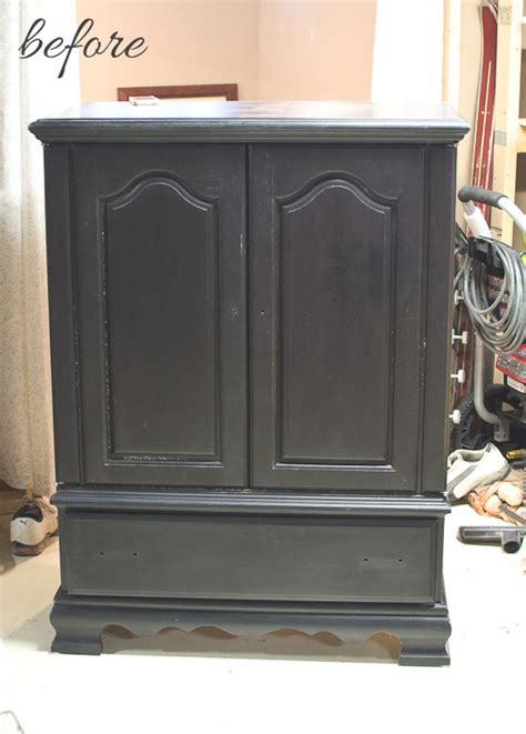Tv Armoire Makeover by Entertainment Center To Armoire Makeover The Golden Sycamore