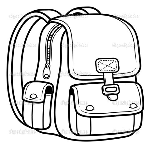 coloring page school bag bag clipart coloring page pencil and in color bag