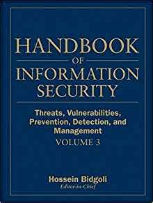 information security handbook develop a threat model and incident response strategy to build a strong information security framework books handbook of information security threats vulnerabilities