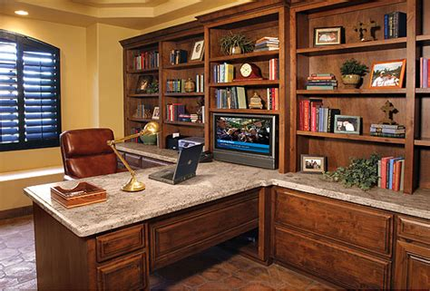 built in office with granite top creek furniture