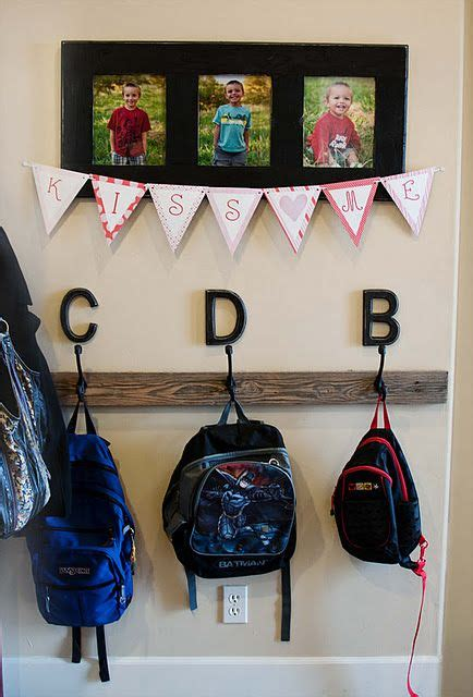 ideas for hanging backpacks pin by lorrie dameron on home sweet home pinterest