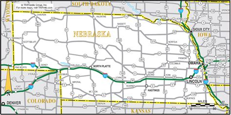 printable nebraska road map nebraska map