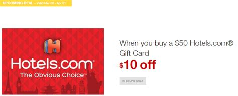 Hotels Com Gift Card Deal - new deal at staples 20 off hotels com gift cards plus 5x points miles to memories