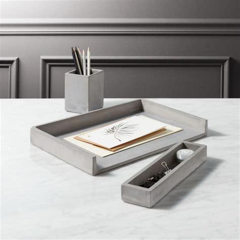 desk accessories cement desk accessories cb2