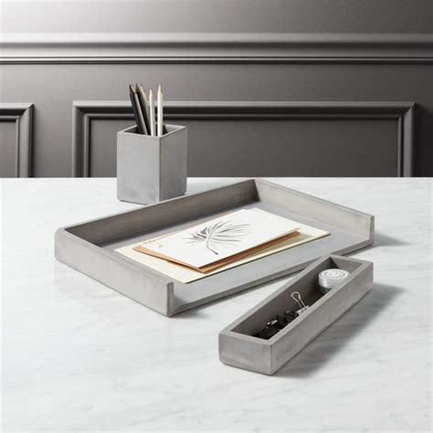 Chrome Help Desk by Cement Desk Accessories Cb2