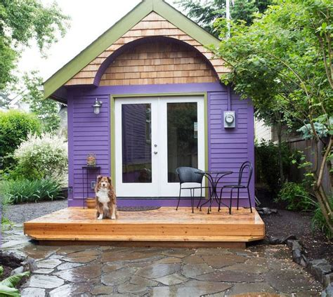 purple tiny house vacation in portland or