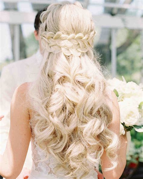 28 half up half wedding hairstyles we martha stewart weddings