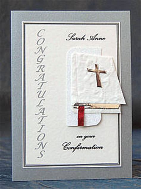 Handmade Confirmation Cards - personalised handmade confirmation card 5 designs q4sf ebay